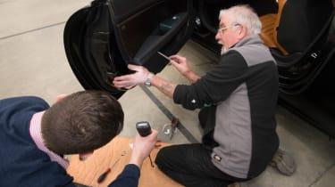 Installing door trim with Hugo Griffiths