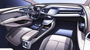 Audi Q4 e-tron concept - interior sketch