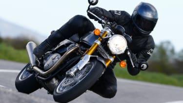 Triumph Thruxton R review - front quarter