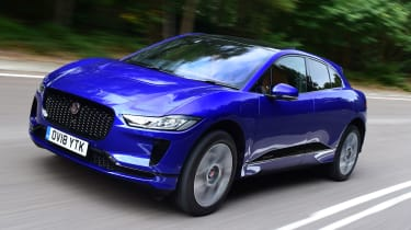 Jaguar I-Pace front tracking shot
