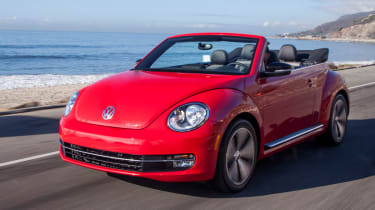 New VW Beetle Cabriolet front action
