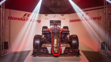 This is the new McLaren-Honda MP4-30, set for the 2015 season.