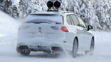 Volkswagen Golf R Estate - spy rear