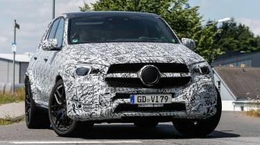 Mercedes AMG GLE 63 spy sho front quarter