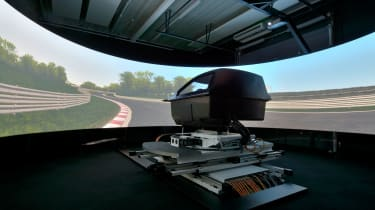"The&nbsp;<span class=""s1"">Ansible Motion Delta Series&nbsp;</span>driving simulator at Hethel Engineering Centre in Norwich"