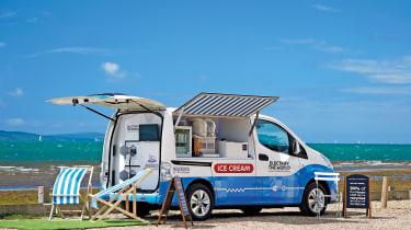 Electric ice cream van feature