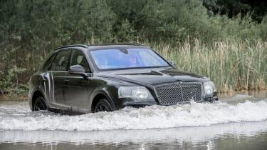 Bentley Bentayga prototype first drive - wading