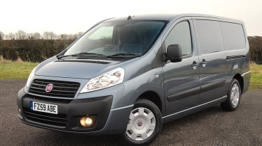 The Scudo shares it's base with Peugeot Expert and the Citreon Dispatch.