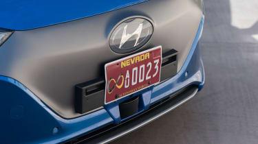 Hyundai Ioniq autonomous - numberplate
