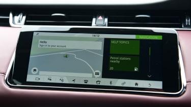 Range Rover Evoque upper screen