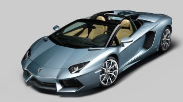 Lamborghini Aventador Roadster front action