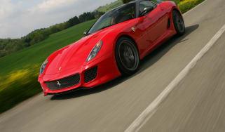 Ferrari 599 GTO coupe front tracking
