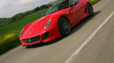 Ferrari 599 GTO coupe front tracking