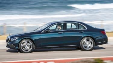 Mercedes E-Class - side driving