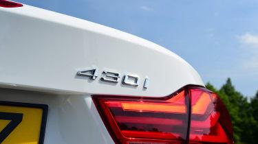 BMW 430i Convertible - 430i badge