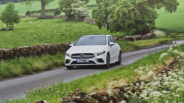 Mercedes A-Class driving front