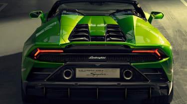 Lamborghini Huracan Evo Spyder - garage rear