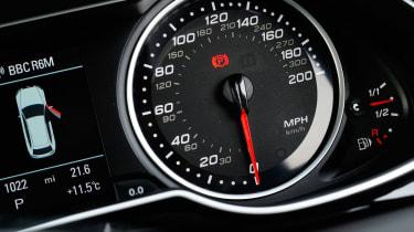 Audi RS4 dials