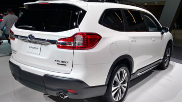 New Subaru Ascent SUV - white rear