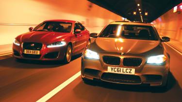 BMW M5 vs Jaguar XFR
