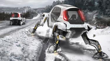Hyundai Elevate walking car snow