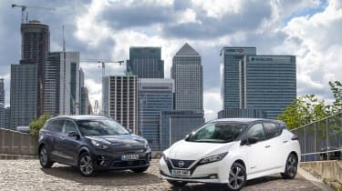 Nissan Leaf Kia e-Niro twin test