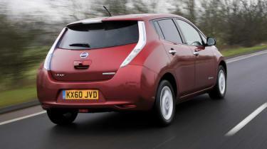 Nissan Leaf rear track