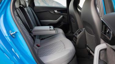 2019 Audi S4 saloon rear seats