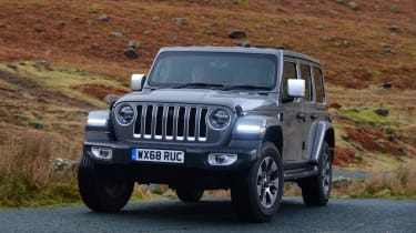 Jeep Wrangler front three-quarter