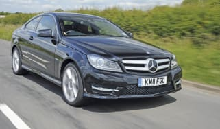 Mercedes C220 CDI Coupe front track