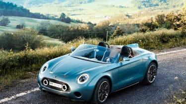 """<span>2014&nbsp;</span><b>MINI Superleggera</b>  <p class=""""p1""""><span class=""""s1"""">""""The Superleggera was a concept we started because I wanted a high-value little car.</span></p>  <p class=""""p1""""><span class=""""s1"""">""""I noticed at the Villa"""