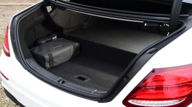 Mercedes E 300 de - long-term review - boot