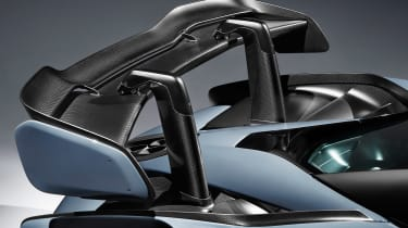 McLaren Senna - grey rear wing