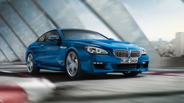 BMW 6 Series blue front side