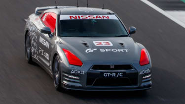 Remote control Nissan GTR/C - top front