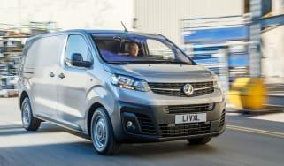 Vauxhall Vivaro van - front tracking