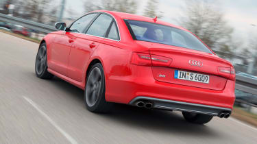 Audi S6 rear cornering