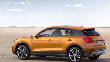 Audi Q2 orange side rear