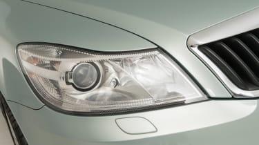 Used Skoda Octavia - front light detail