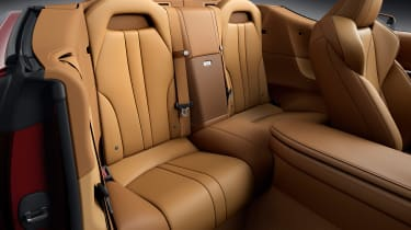 Lexus LC Convertible - rear seats red