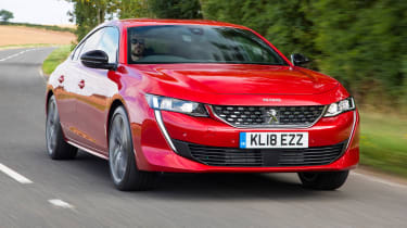 New Peugeot 508 GT 1.6 turbo front tracking