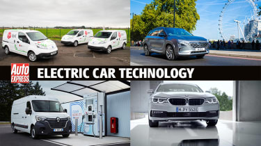 Electric car technology montage