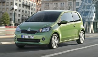 Skoda CitiGo front three-quarters
