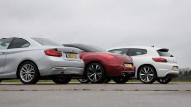 BMW 2 Series vs coupe rivals rear