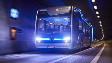 Mercedes-Benz Future Bus - in tunnel
