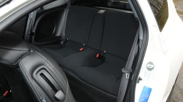 The rear seats are tiny and only suited to very small children or luggage.