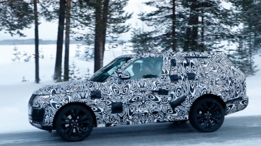 Range Rover Coupe spy shot side profile