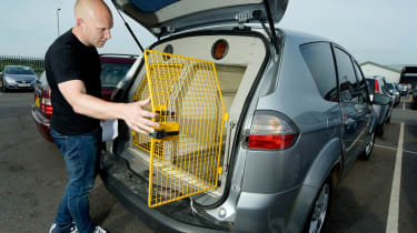 How to buy a used police car - boot cage