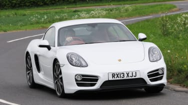 Porsche Cayman cornering