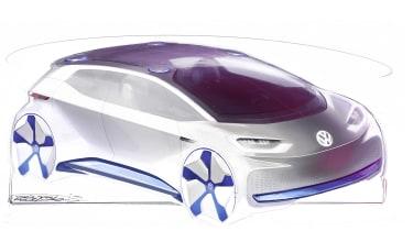 VW electric car Paris concept sketch front